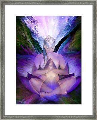 Third Eye Chakra Goddess Framed Print by Carol Cavalaris