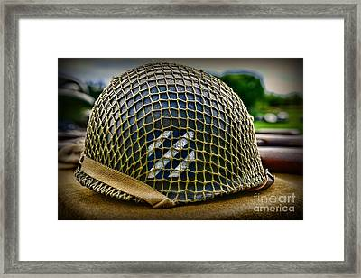 Third Infantry Division Helmet Framed Print by Paul Ward
