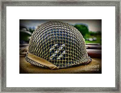 Third Infantry Division Helmet Framed Print