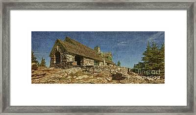 Third Pigs House Framed Print