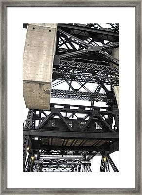 Third Street Bridge Vertical Framed Print by Studio Janney