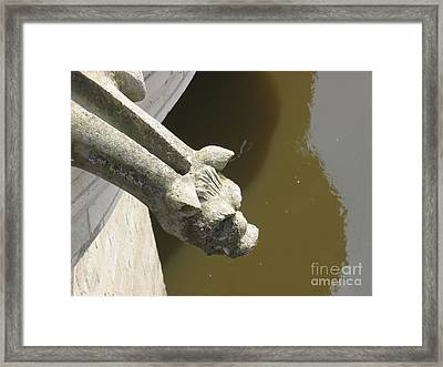 Thirsty Gargoyle Framed Print by HEVi FineArt