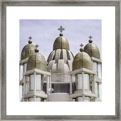Thirteen Gold Domes Framed Print by Julie Palencia