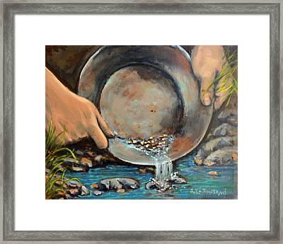 Thirteen Pickers In My Pan Framed Print by Julie Townsend
