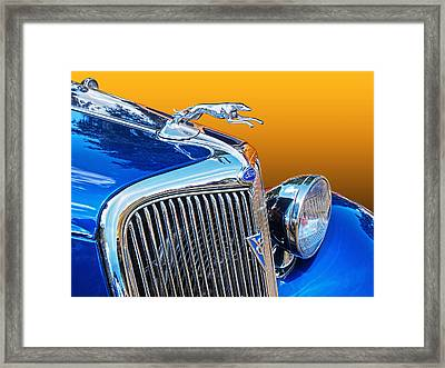 Thirties V8 Ford Greyhound Framed Print by Gill Billington