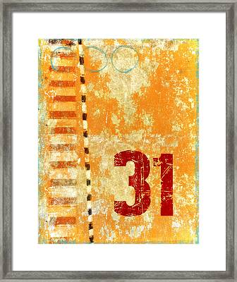 Thirty-one Stripes Framed Print