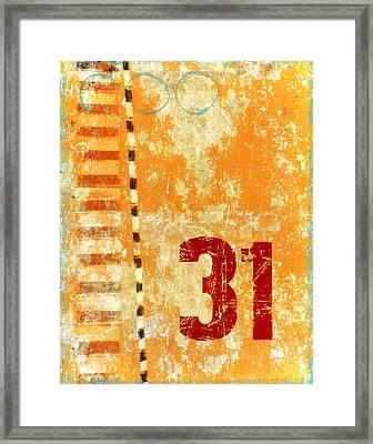 Thirty-one Stripes Framed Print by Carol Leigh