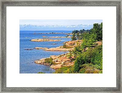 Thirty Thousand Islands Framed Print by Charline Xia