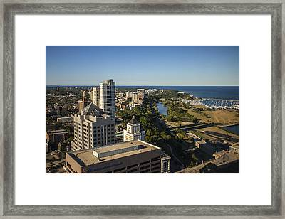 Thirty-two Stories Framed Print