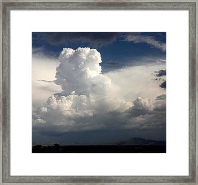 Thirtyfive Thousand Feet And Climbing Framed Print by Joe Kozlowski