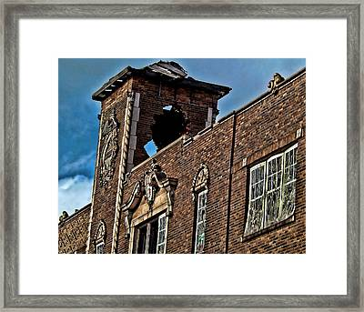 This Building Is History Framed Print by Kristie  Bonnewell