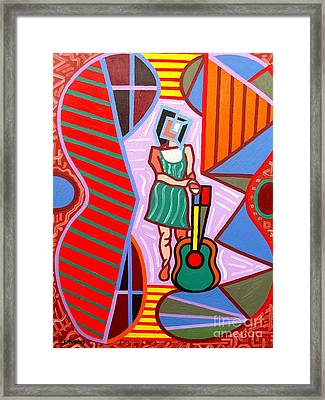 This Guitar Is More Than An Instrument Framed Print by Patrick J Murphy