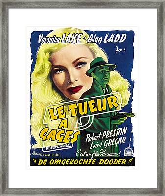 This Guns For Hire, Veronica Lake, Alan Framed Print by Everett