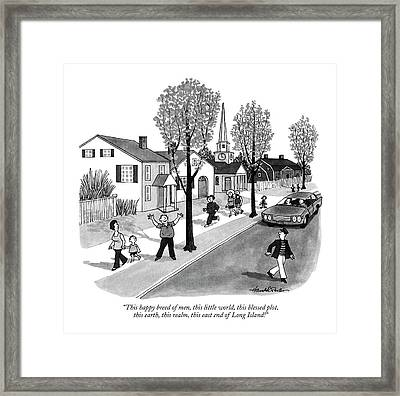 This Happy Breed Of Men Framed Print