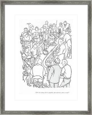 This Has Always Been A Popular Spot Framed Print by George Price