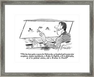 This Has Been Quite A Season For Zobrowsky  - Framed Print by Mischa Richter