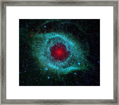 This Infrared Image Of Helix Nebula Framed Print