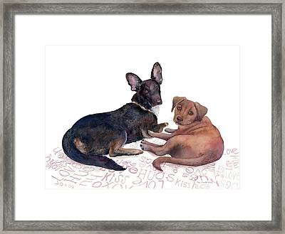 This Is A Private Conversation Framed Print