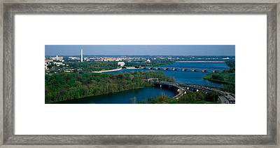 This Is An Aerial View Of Washington Framed Print
