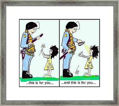 ...this Is For You... Framed Print by Robert Stagemyer
