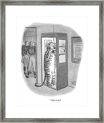 This Is He Framed Print by Robert J. Day