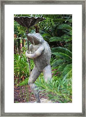 This Is Just My Day Job - Garden Art Framed Print by Ella Kaye Dickey