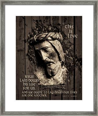 This Is Love Framed Print