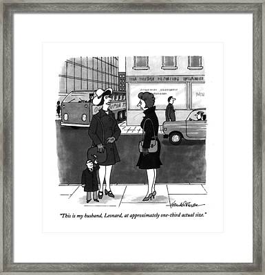 This Is My Husband Framed Print by J.B. Handelsman