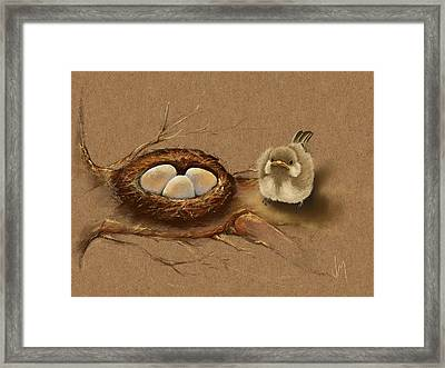 This Is My Nest? Framed Print by Veronica Minozzi