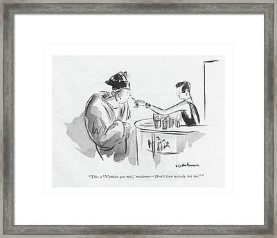 This Is 'n'aimez Que Moi Framed Print by Helen E. Hokinson