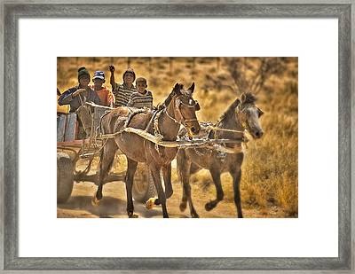This Is Namibia No. 23 - Going To Town The Old Fashioned Way Framed Print by Paul W Sharpe Aka Wizard of Wonders