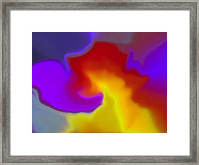 This Is Not A Face Framed Print