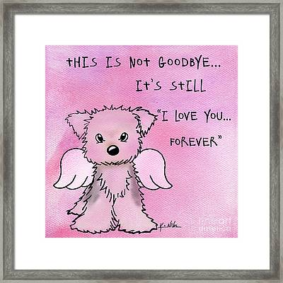 This Is Not Goodbye Framed Print by Kim Niles