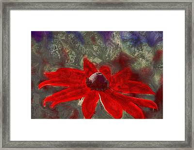 This Is Not Just Another Flower - Spr01 Framed Print by Variance Collections
