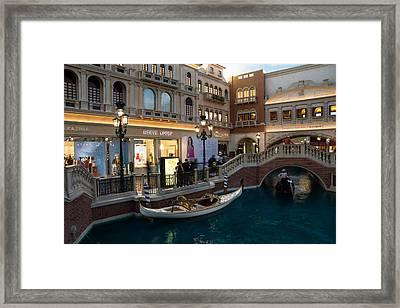 It's Not Venice - The White Wedding Gondola Framed Print by Georgia Mizuleva