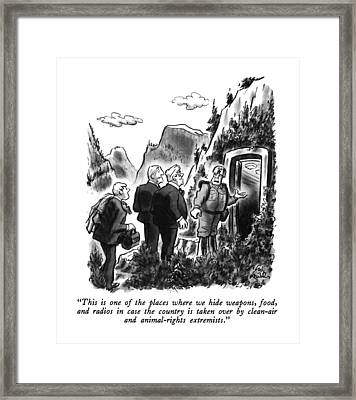 This Is One Of The Places Where We Hide Weapons Framed Print by Ed Fisher