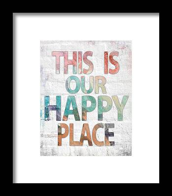 Be Happy Framed Prints