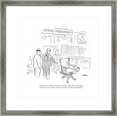 This Is Our Senior-executives' Model. Note Framed Print