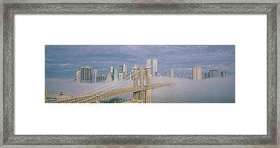 This Is The Brooklyn Bridge Framed Print by Panoramic Images