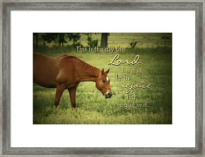This Is The Day Framed Print by Linda Fowler