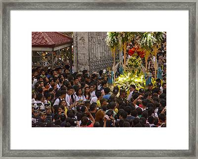 This Is The Philippines No.65 - Santo Nino Entering The Basilica Framed Print by Paul W Sharpe Aka Wizard of Wonders