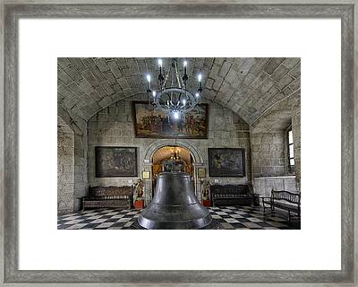 This Is The Philippines No.89 - San Agustin Church Bell Framed Print by Paul W Sharpe Aka Wizard of Wonders