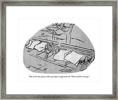 This Is The Time Of Year When You Begin Framed Print by Mischa Richter