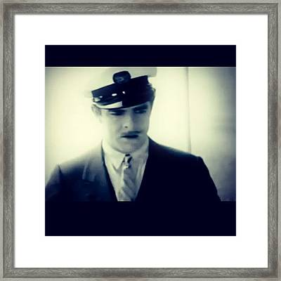 This Is Your Captain Speaking Framed Print