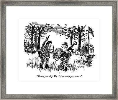 This Is  Your Day Framed Print by Donald Reilly