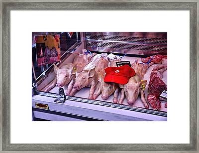 This Little Piggy Went To Market Framed Print