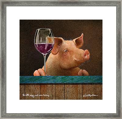 This Little Piggy Went Wine Tasting... Framed Print