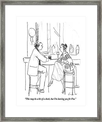 This May Be A Bit Of A Shock Framed Print by Richard Cline