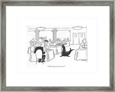 This May Be Ours Now Framed Print by Otto Soglow
