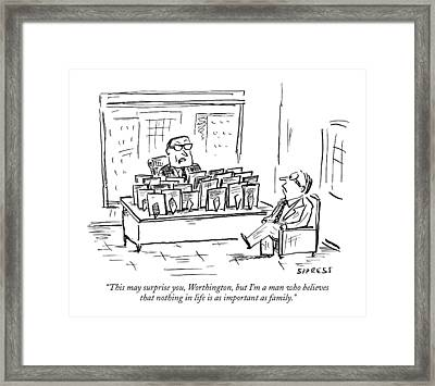 This May Surprise Framed Print by David Sipress